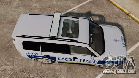Mitsubishi Pajero Finnish Police [ELS] for GTA 4 right view