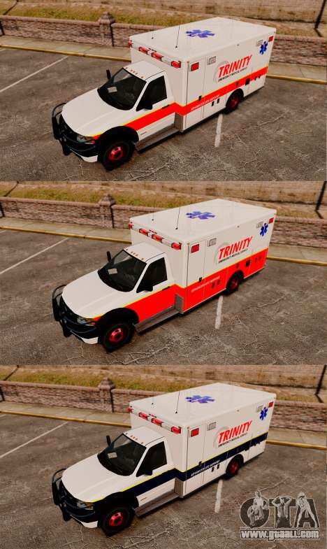 Landstalker L-350 Trinity EMS Ambulance [ELS] for GTA 4 back view