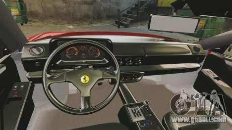 Ferrari Testarossa 1986 v1.1 for GTA 4 back view