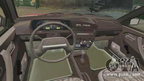 Vaz-2109 for GTA 4 inner view