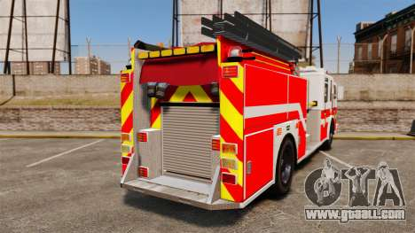 Firetruck Woonsocket [ELS] for GTA 4 back left view