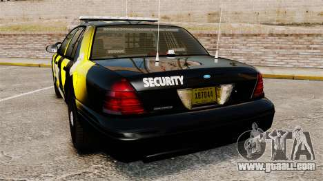 Ford Crown Victoria 2008 Security Patrol [ELS] for GTA 4 back left view