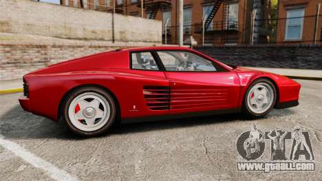 Ferrari Testarossa 1986 v1.1 for GTA 4 left view