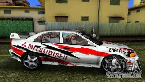 Mitsubishi Lancer Rally for GTA Vice City back left view