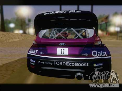 Ford Fiesta RS WRC 2013 for GTA San Andreas back left view