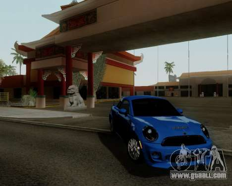 MINI Cooper S 2012 for GTA San Andreas left view