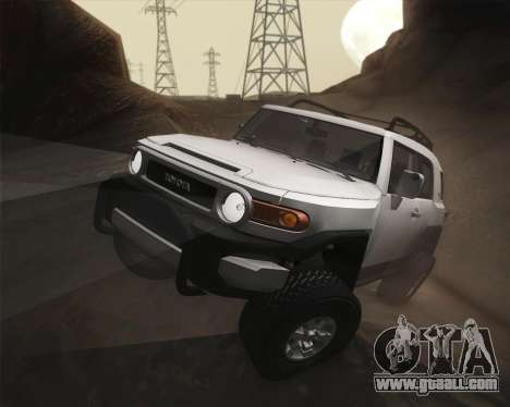 Toyota FJ Cruiser 2012 for GTA San Andreas side view