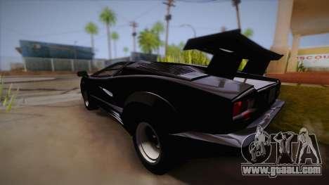 Lamborghini Countach 25th Anniversary for GTA San Andreas inner view