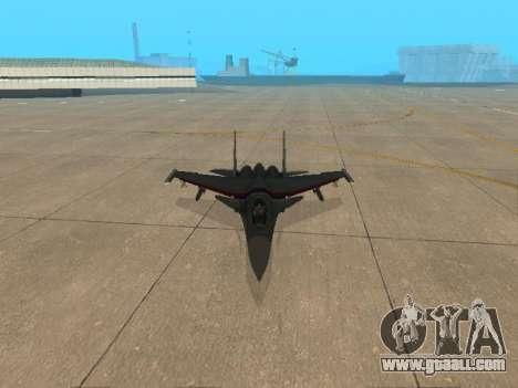 Su 33 for GTA San Andreas bottom view