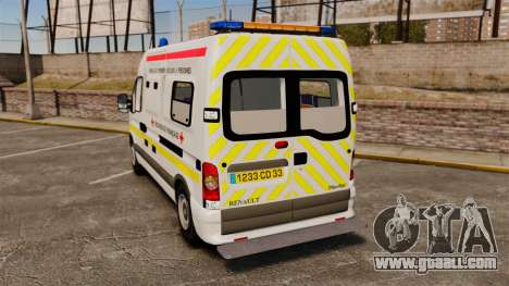 Renault Master French Red Cross [ELS] for GTA 4 back left view