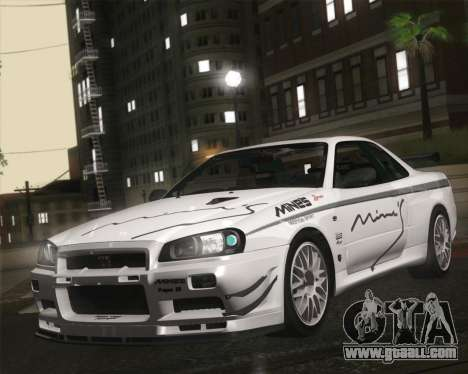 Nissan Skyline Mines R34 2002 for GTA San Andreas