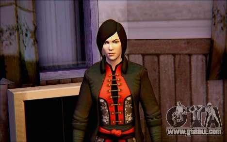 Lady Shiva in the game Batman Arkham Origins for GTA San Andreas