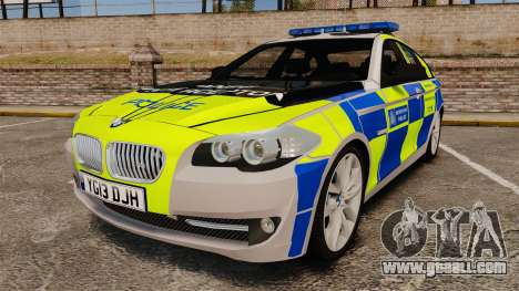 BMW 550i Metropolitan Police [ELS] for GTA 4