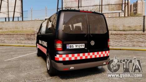 Volkswagen Transporter T5 2010 [ELS] for GTA 4 back left view