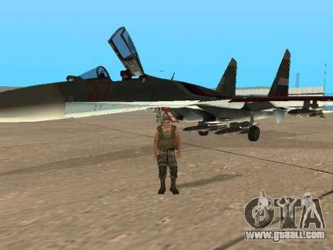 Su 33 for GTA San Andreas interior