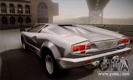Lamborghini Countach 25th Anniversary for GTA San Andreas left view