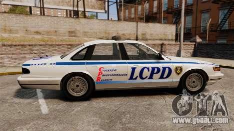 Vapid Police Cruiser v2.0 for GTA 4 left view