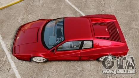 Ferrari Testarossa 1986 v1.1 for GTA 4 right view