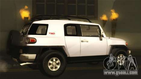 Toyota FJ Cruiser 2012 for GTA San Andreas left view