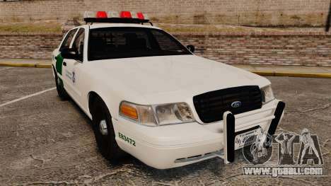 Ford Crown Victoria 1999 U.S. Border Patrol for GTA 4