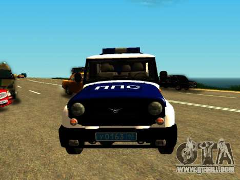 UAZ Hunter PPP for GTA San Andreas back view