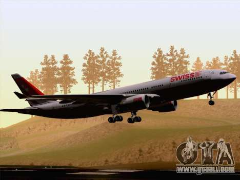 Airbus A330-223 Swiss International Airlines for GTA San Andreas back view