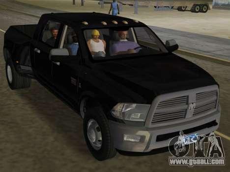 Dodge Ram 3500 Laramie 2012 for GTA Vice City upper view