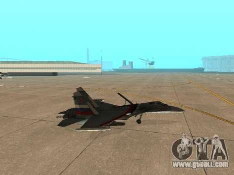 Su 33 for GTA San Andreas back view