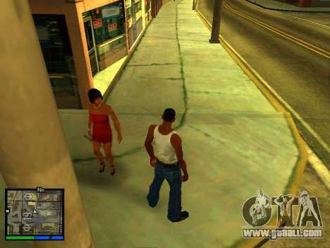 Pak skins girls for GTA San Andreas seventh screenshot