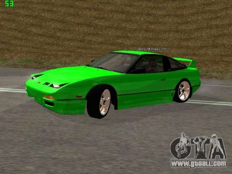 Nissan 240SX Drift Version for GTA San Andreas left view