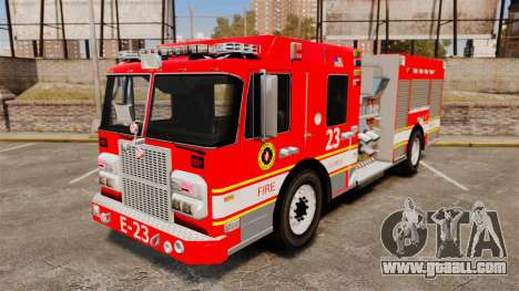 Division on Fire Columbus Firetruck [ELS] for GTA 4