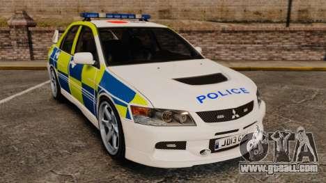 Mitsubishi Lancer Evolution IX Uk Police [ELS] for GTA 4