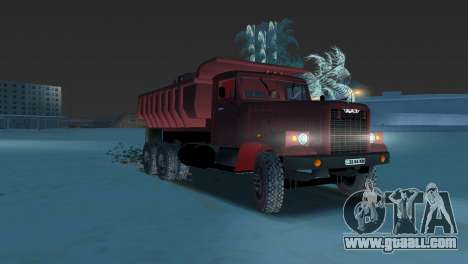 KrAZ 255 dump truck for GTA Vice City left view
