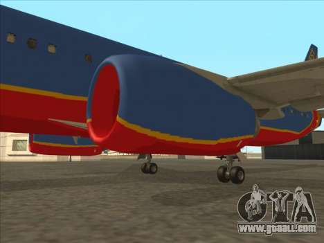 Boeing 737 Southwest Airlines for GTA San Andreas bottom view