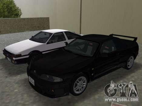 Nissan SKyline GT-R BNR33 for GTA Vice City engine