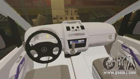 Mercedes-Benz Vito Metropolitan Police [ELS] for GTA 4 back view