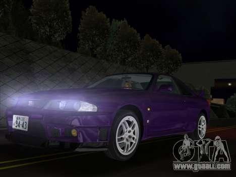 Nissan SKyline GT-R BNR33 for GTA Vice City