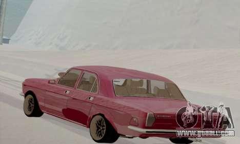 GAZ Volga 2410 Hot Road for GTA San Andreas back left view