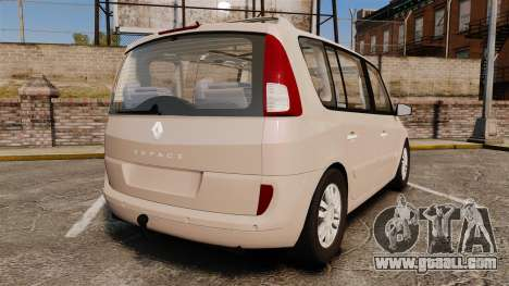 Renault Espace IV Initiale v1.1 for GTA 4 back left view