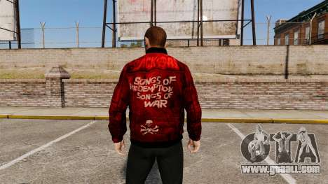 Red leather jacket for GTA 4 second screenshot