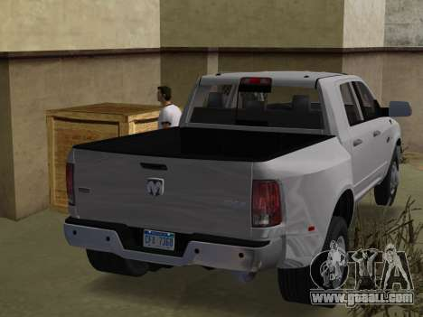 Dodge Ram 3500 Laramie 2012 for GTA Vice City left view