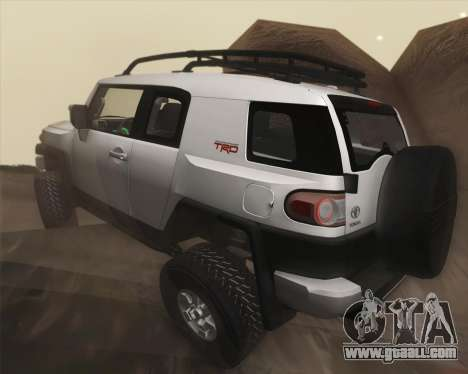 Toyota FJ Cruiser 2012 for GTA San Andreas upper view