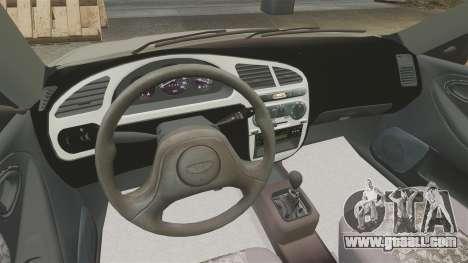 Daewoo Lanos S PL 2001 for GTA 4 inner view