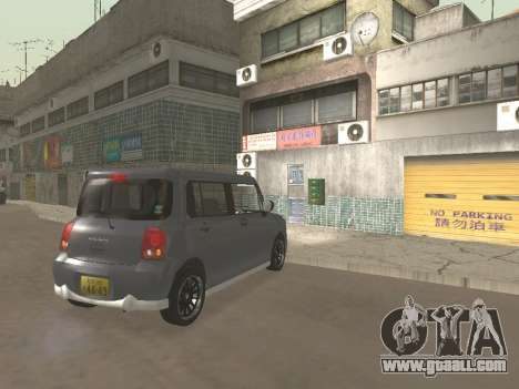 Suzuki Alto Lapin for GTA San Andreas upper view