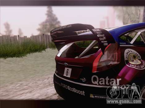 Ford Fiesta RS WRC 2013 for GTA San Andreas upper view