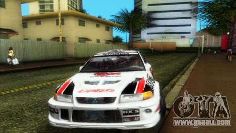 Mitsubishi Lancer Rally for GTA Vice City back view