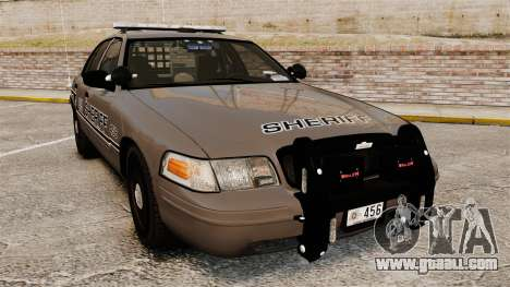 Ford Crown Victoria 2008 Sheriff Patrol [ELS] for GTA 4
