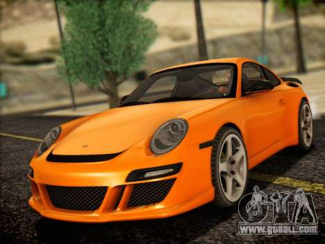 RUF RT12S for GTA San Andreas back left view