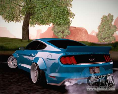 Ford Mustang Rocket Bunny 2015 for GTA San Andreas inner view