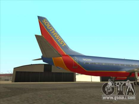 Boeing 737 Southwest Airlines for GTA San Andreas back view